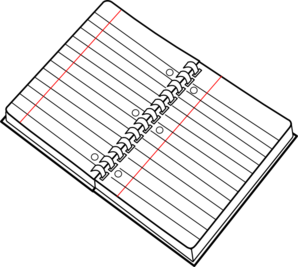 Spiral Notebook Clip Art