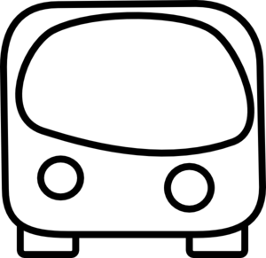 Front Of A Bus Outline Clip Art