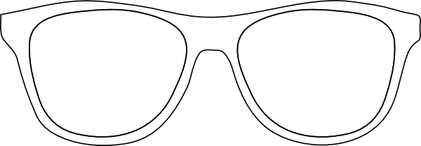 Sunglasses Outline Clip Art Sketch Coloring Page