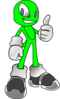 Green Alien Clip Art