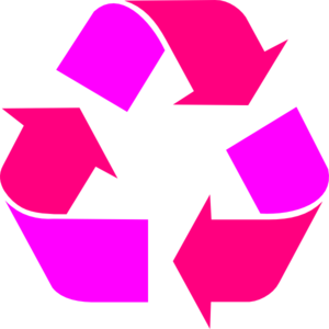 Two Tone Pink Recycle Symbol Clip Art