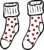 Spotty Socks Clip Art