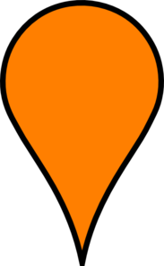 Google Maps Icon - Baby Orange Clip Art