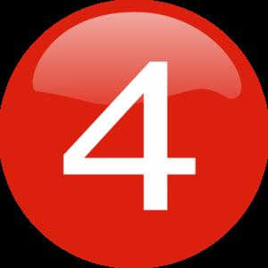 number 4 button clip art at clker com vector clip art online