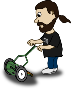 Pushing Lawn Mower Clip Art
