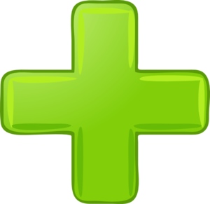 Tiny Green Plus Sign Clip Art