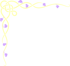 Yellow And Purple Corner Clip Art