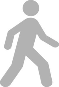 Walking Man Grey Clip Art