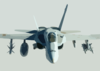A U.s. Navy F/a-18 Hornet Proceeds On Its Mission In Support Of Operation Iraqi Freedom. Clip Art