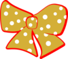 Red Gold Cheer Bow Clip Art