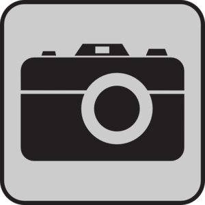 Camera Gray Background Clip Art