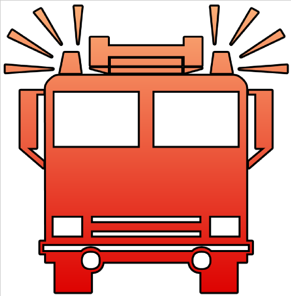 Fire Truck Cutout Clip Art at Clker.com - vector clip art ...