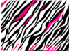 Black And White Zebra Print Background Clip Art
