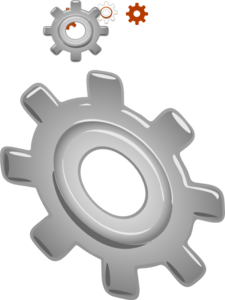 Gear Trans Back Clip Art