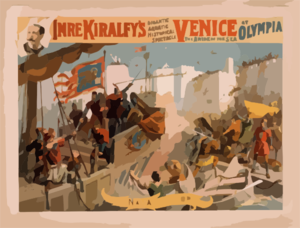 Imre Kiralfy S Gigantic Aquatic Historical Spectacle, Venice, The Bride Of The Sea At Olympia Clip Art