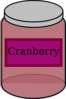 Cranberry Jar Clip Art