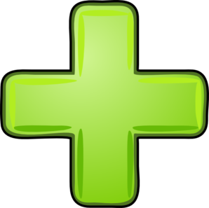 Plus Icon Green Clip Art