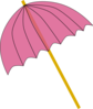 Umbrella / Parasol Pink Tranparent Clip Art