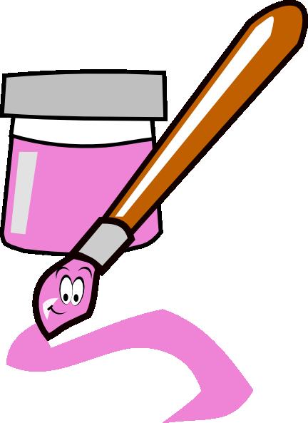 pink paintbrush clip art at clker com vector clip art online rh clker com