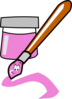Pink Paintbrush Clip Art