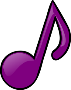 Purple Eighth Note Clip Art