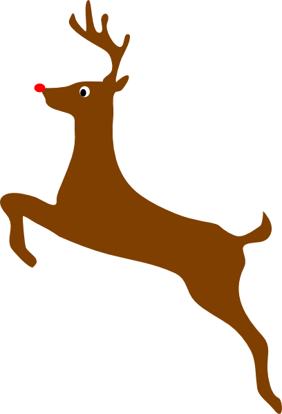 Rudolph The Red Nosed Reindeer Clip Art at Clker.com - vector clip art ...