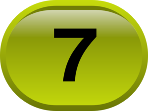 Button For Numbers 7 Clip Art