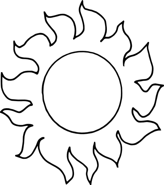 Line Art Sun : Sun outline clip art at clker vector online