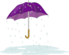 Tattered Umbrella In Rain Clip Art