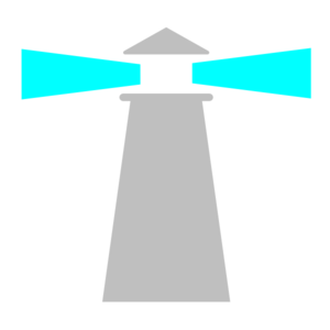 Lighthouse Grey Turquoise Navigate Clip Art