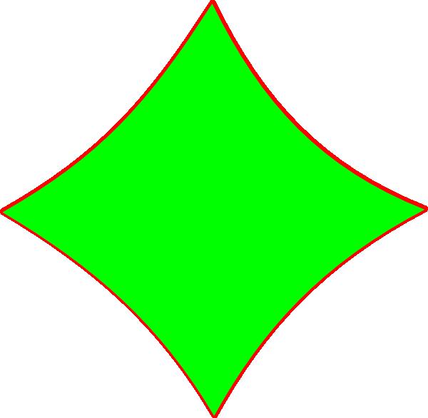 Bright Green Diamond Shape Clip Art at Clker.com - vector ...