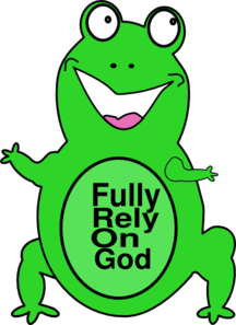 Fully Rely On God Clip Art