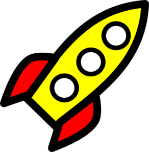 Three Window Rocket Clip Art