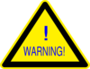 Warning Sign Blue Clip Art