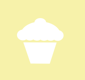 Yellow And White Cupcake Icon Clip Art