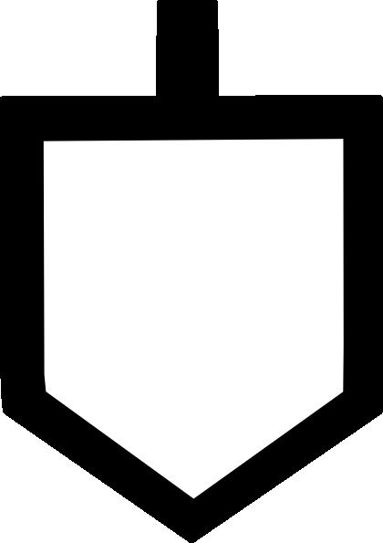 Dreidel Template | Bold Dreidel Shape Clip Art At Clker Com Vector Clip Art Online