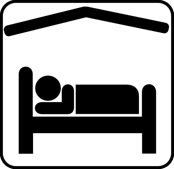 ... Icon Hotel motel sleeping accomodation clip art - black/white clip