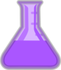 Purple Flask Lab Clip Art