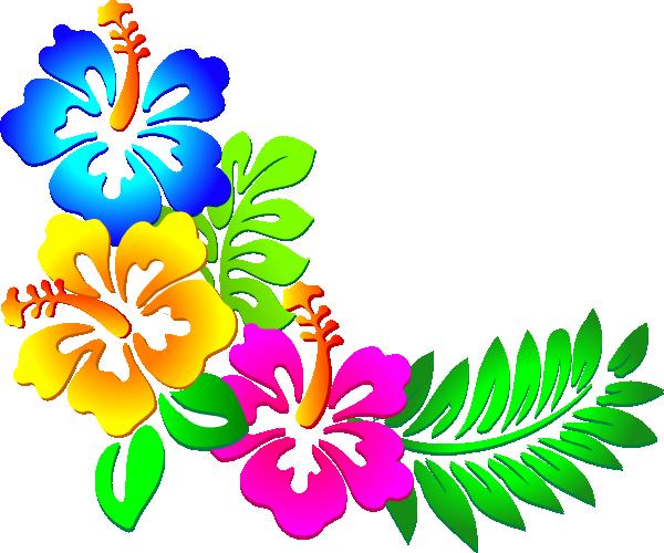 Hibiscus Corner 2 Clip Art at Clker.com - vector clip art ...