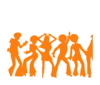 Disco Shadow Orange Clip Art