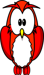 Red Owlette Clip Art