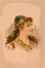 [head-and-shoulders Image Of Blond Woman, Facing Right, Wearing Gypsy Like Clothing] Clip Art