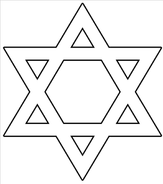Star Of David Outline Clip Art at Clker.com - vector clip art online ...