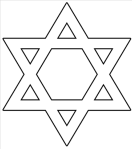 Star Of David Outline Clip Art