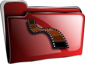 Movie Folder Icon Clip Art