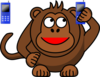 Monkey On Phone Clip Art