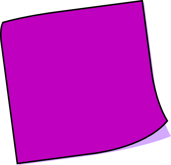 Sticky note clipart