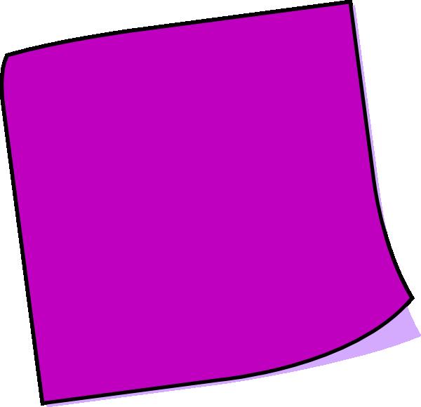 Purple Sticky Note Clip Art at Clker.com - vector clip art online ...