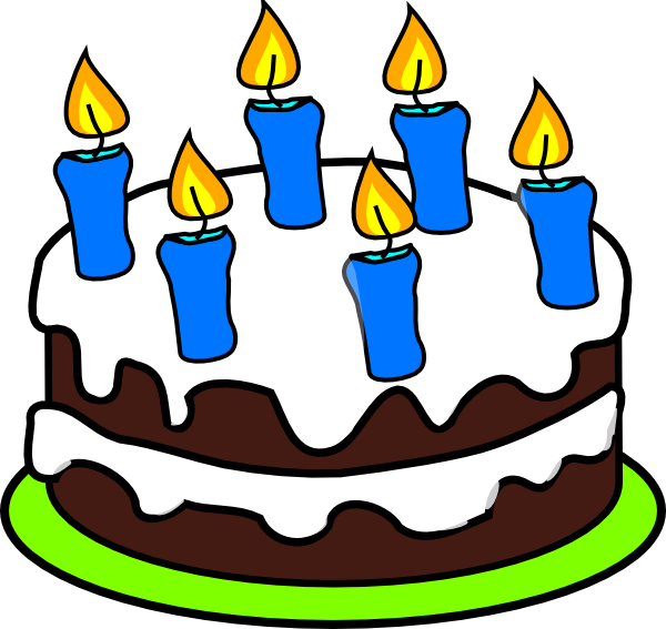Cake 6 Candles Clip Art At Clker Com Vector Clip Art