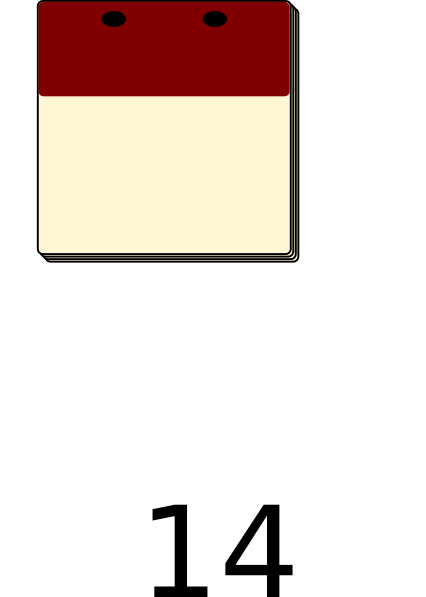 Blank Calendar Clipart : Calendar blank clip art at clker vector